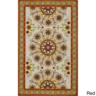 Uzbek Soul Black Hand Hooked Wool Indoor Rug (2 x 3)   16342643