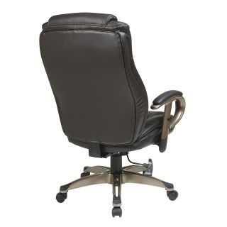 Office Star Eco Leather Executive Chair with Arms