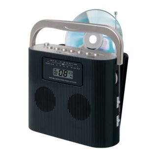 Jensen CD 470BK Portable Stereo Compact Disc Player with AM/FM Radio