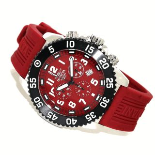 Invicta Pro Diver Red Dial Chronograph Mens Watch 1105