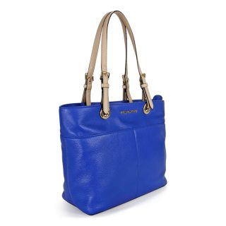 Michael Kors Jet Set Top Zip Leather Tote   Electric Blue