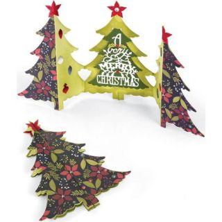 Sizzix Thinlits Dies 6pk, Fold A Long Christmas Tree Card