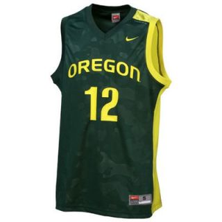 Nike Oregon Ducks #12 Toddler Green Replica Basketball Jersey