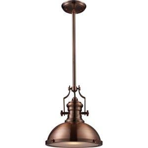 ELK Lighting ELK 66144 1 Chadwick Antique Copper  Pendants Lighting