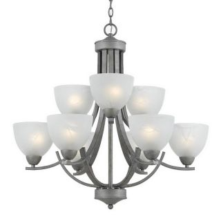 Triarch International Value Series 280 9 Light Old Silver Chandelier