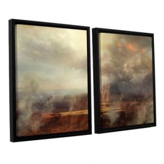 ArtWall Before The Rain by Philip Straub 2 Piece Framed Photographic Print on Wrapped Canvas Set