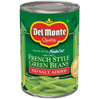 Del Monte No Salt Added Fresh Cut Blue Lake French Style Green Beans, 14.5 oz