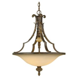 Feiss F2005 3ATS Coventry Castle 3 Light Uplight Chandelier in Aged Tortoise Shell