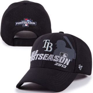 '47 Brand Tampa Bay Rays 2013 Playoffs Locker Room Grand Slam Adjustable Hat   Black