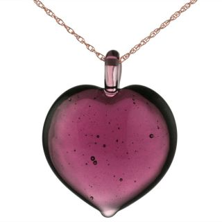 Murano Glass Purple Heart Necklace   11269670   Shopping