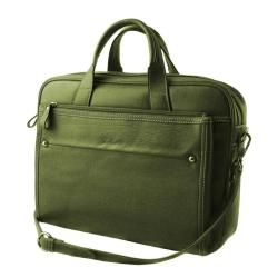 Bellerose Womens Green Tablet Faux Leather Briefcase   13951012