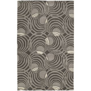 Kaleen Astronomy Rectangular Gray Geometric Tufted Wool Area Rug (Common: 5 ft x 8 ft; Actual: 5 ft x 7.5 ft)
