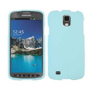 Unlimited Cellular Snap On Protector Case for Samsung I9252 Galaxy S4 Active/i537 (Fluorescent Light Blue)