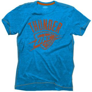 Oklahoma City Thunder Majestic Threads Outline Contrast Stitch Tri Blend T Shirt   Light Blue