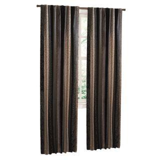 Style Selections Stonebridge 84 in L Geometric Onyx Back Tab Curtain Panel