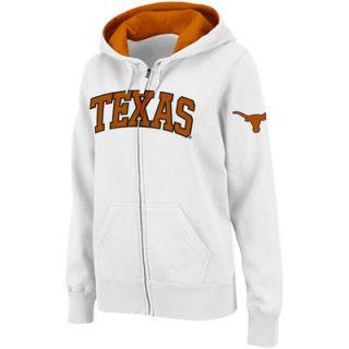 Texas Longhorns Womens Arch Full Zip Hoodie   White