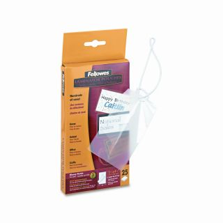 FELLOWES MANUFACTURING Laminating Pouches, 5 Mil, Tag Size, 50/Pack