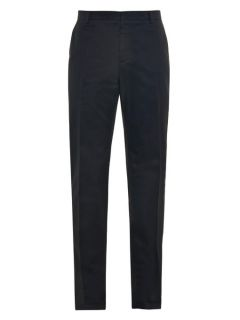 Slim leg cotton chino trousers  Balenciaga US