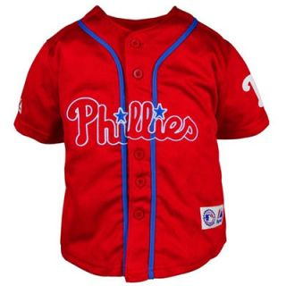 Majestic Philadelphia Phillies Preschool Closehole Mesh Jersey   Red