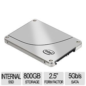 Intel DC S3700 Series 800GB SSD   2.5 Form Factor, SATA 6Gb/s, Up To 500 MB/s Read Speed, Up To 460 MB/s Write Speed (OEM)   SSDSC2BA800G301