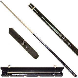 Blue Sword 2 piece Pool Cue with 6 Replacement Tips   11629255