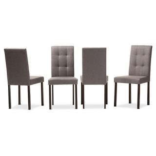 Andrew Contemporary Dining Chairs   Grey (Set Of 4)   Baxton Studio