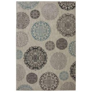 Bob Timberlake Reflections Dragonfly Medallion Abyss Blue 5 ft. 3 in. x 7 ft. 10 in. Area Rug 452407