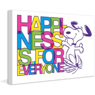 "Marmont Hill ""Happiness is for Everyone"" Peanuts Print on Canvas"