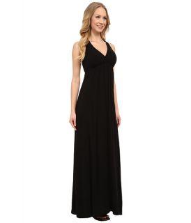 Hard Tail Twisty Back Maxi Dress Black