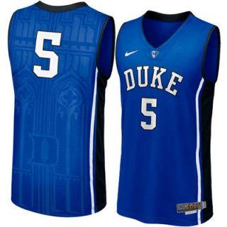 Nike Duke Blue Devils #5 Mens Swingman Aerographic Elite Basketball Jersey   Duke Blue