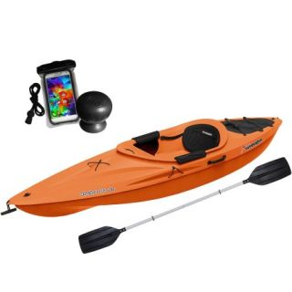 Sun Dolphin Aruba 10 SS with Speaker, Bag and Paddle, Tangerine