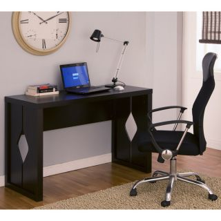 Furniture of America Tuston Espresso Office Desk with Built in File