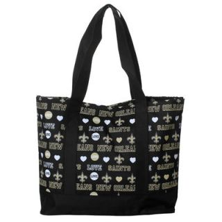 New Orleans Saints Womens Love Print Tote Bag