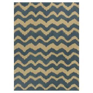 Kas Rugs Natural Wave Blue/Beige 3 ft. 3 in. x 5 ft. 3 in. Area Rug NAT225033X53