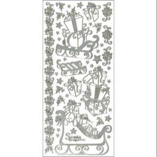 Dazzles Stickers Santa's Sleigh Silver