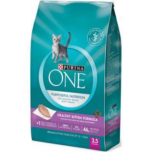 Purina Dentalife Healthy Kitten Formula Premium Cat Food 3.5 lb. Bag