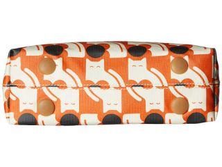 Orla Kiely Poppy Cat Print Classic Zip Shoulder Persimmon