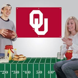 Oklahoma Sooners Fan Banner & Tablecloth 2 Piece Football Party Kit