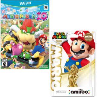 Mario Party 10 (Wii U) and Gold Mario Amiibo