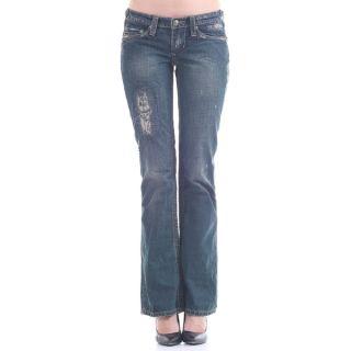 Institute Liberal Womens Slub Stretch Twill Bootcut Jeans