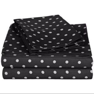 Polka Dot Sheet Set   Cotton Rich 600 Thread Count