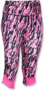 Under Armour Fly By Printed Capri Pants   Womens