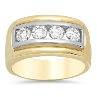 14k Gold Mens 3/5ct TDW Diamond Ring (E F, VS1 VS2)