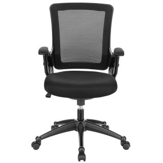 East End Imports EEI 827 BLK Aspire Office Chair with Mesh Back and Mesh Fabric Seat in Black