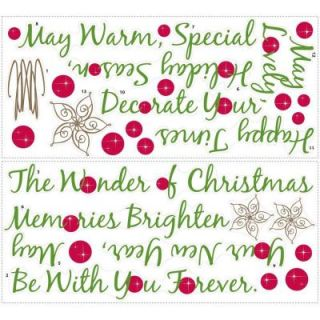 18 in. x 40 in. Christmas Tree Quote 31 Piece Peel and Stick Giant Wall Decals RMK1412GM