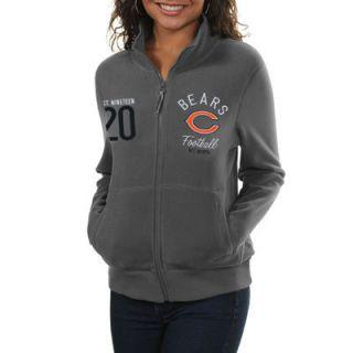 Chicago Bears Womens Polar Fleece Full Zip Jacket   Gray