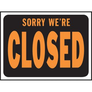 Hy Ko Sorry We're Closed Sign (Set of 10)