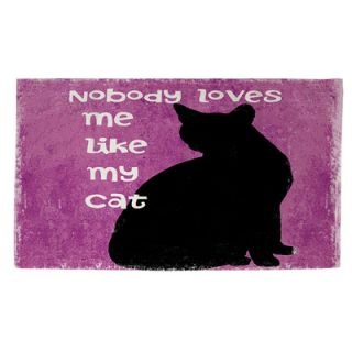 Nobody Loves Me Like My Cat Purple & Black Area Rug by Thumbprintz