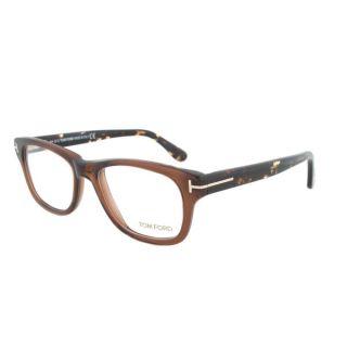 Tom Ford FT5147 050 Translucent Brown Wayfarer Eyeglass Frames   Size