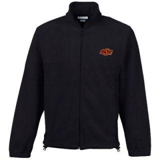 Columbia Oklahoma State Cowboys Flanker Full Zip Fleece Jacket   Black